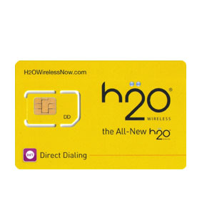 H2o Unlimited SimCards Lot of 100 pieces w Brochure